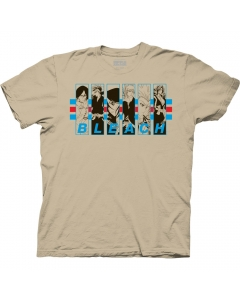 Bleach 5 Characters In Frames With Stripes Adult Crew Neck T-Shirt