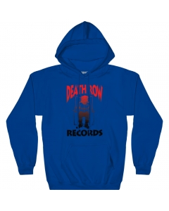 Death Row Records Black and Red Gradient Logo Pull Over Fleece Hoodie