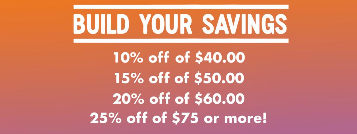 Build your Savings!