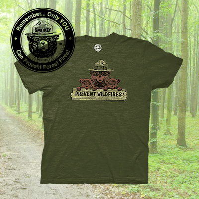 Shop Smokey Bear T-Shirts and Apparel