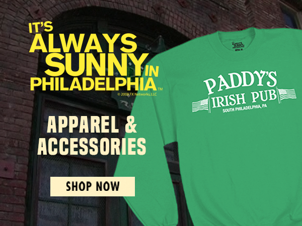 Shop It's Always Sunny in Philadelphia T-Shirts and Apparel