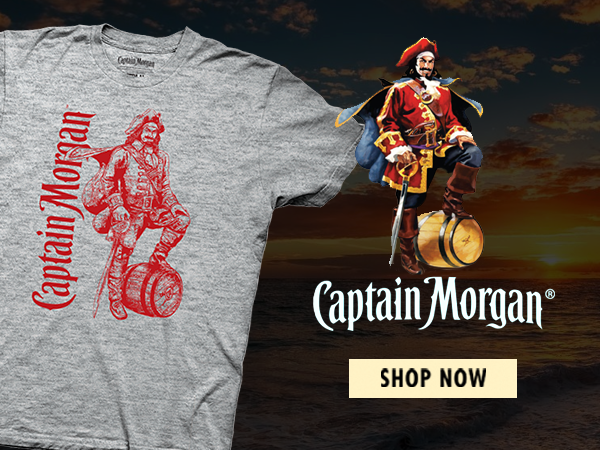 Shop Captain Morgan T-Shirts and Apparel